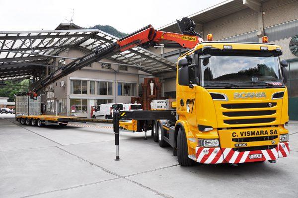 Camion gru Scania Palfinger