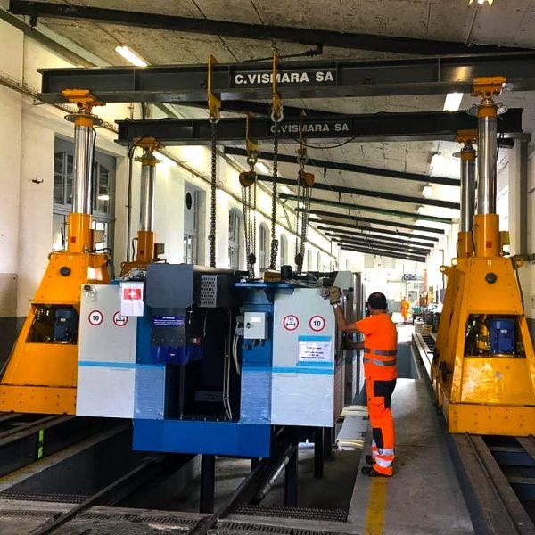 Movimentazione di macchinari con la tecnologia del pistoni idraulici
